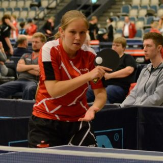 Line Tækker Tarbensen winner of junior girls singles at Danish International