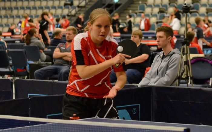 Line Tækker Tarbensen winner of junior girls singles at Danish International