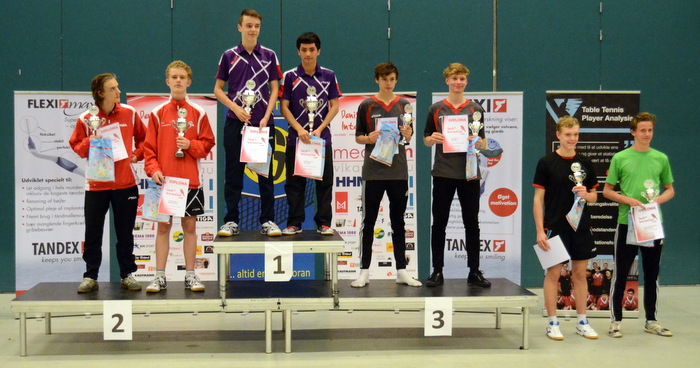 Winners of Junior Boys, Thor Christensen and Oliver Petersen